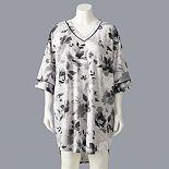 Plus Size Simply Vera Vera Wang 1/2 Sleeve Sweater Sleepshirt