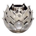 Stella & Eve Glam Ceramic Silver Bud Vase