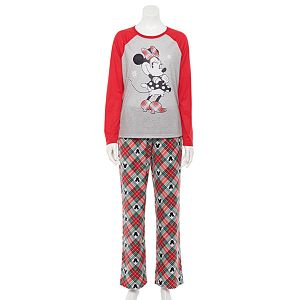 Disney's Minnie Mouse Women's Plaid Top & Bottoms Pajama Set by Jammies For Your Families®