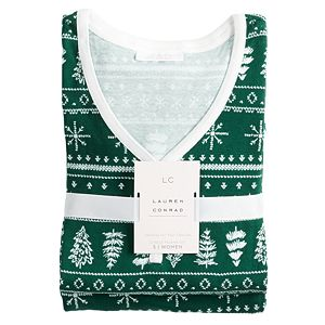 Women's LC Lauren Conrad Jammies For Your Families® Fairisle Top & Bottoms Pajama Set