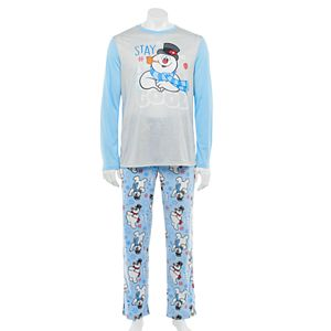 Jammies For Your Families® Men's Frosty The Snowman Stay Cool Top & Bottoms Pajama Set