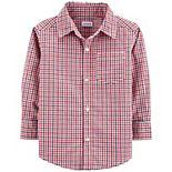 Toddler Boy Carter's Gingham Button-Front Shirt