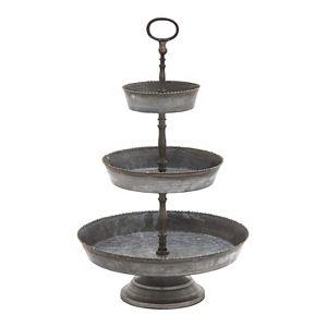 Stella & Eve Farmhouse 3-Tier Decorative Tray Stand Table Decor