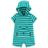 Baby Boy Carter's Tiger Striped Hooded Romper
