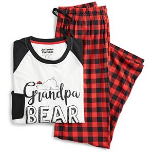 Men's Jammies For Your Families® Cool Bear Top & Plaid Pants Pajama Set by Cuddl Duds