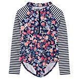 Girls 4-14 OshKosh B'gosh® Floral Rashguard One-Piece Swimsuit