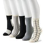 Women's Sonoma Goods For Life® Buffalo Check Sock Set