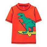 Boys 4-14 Carter's Dinosaur Rashguard Swimsuit Top