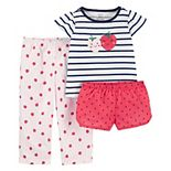 Toddler Girl Carter's 3-Piece Pajama Set