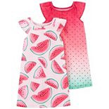 Toddler Girl Carter's 2-Pack Flutter Sleeve Night Gowns