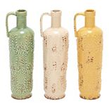 Stella & Eve Eclectic Ceramic Jug Vases with Handle 3-pc. Set