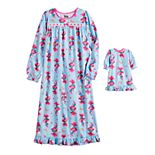 DreamWorks Trolls Fun Time Poppy Girls 4-10 Nightgown with Matching Doll Nightgown