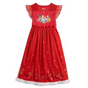 Disney's Princesses Girls 4-8 Christmas Fantasy Nightgown