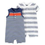 Baby Boy Carter's 2-Pack Striped Rompers