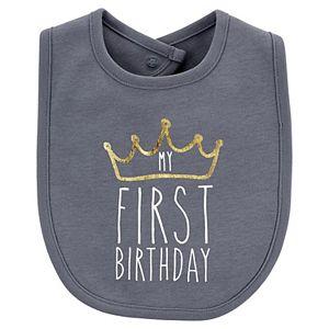 Baby Boy Carter's First Birthday Teething Bib