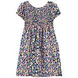 Girls 4-12 Carter's Floral Poplin Dress