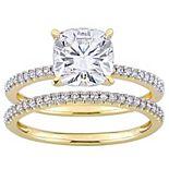 Stella Grace 14k Gold 2 Carat T.W. Lab-Created Moissanite & 1/4 Carat T.W. Diamond Engagement Ring Set