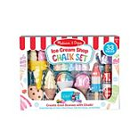 Melissa & Doug Ice Cream Shop Multi-Colored Chalk and Holders Play Set