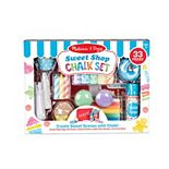 Melissa & Doug 33-Piece Sweet Shop Multi-Colored Chalk and Holders Play Set