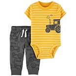 Baby Boy Carter's Construction Bodysuit & Pants Set