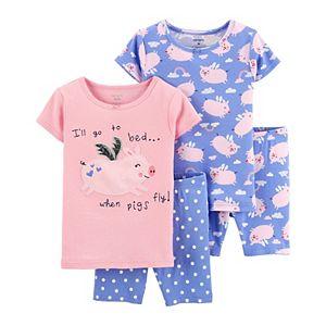 Baby Girl Carter's 4 Piece Floral Pajama Set
