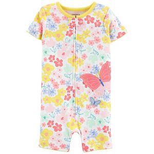 Baby Girl Carter's Bug Romper Pajamas