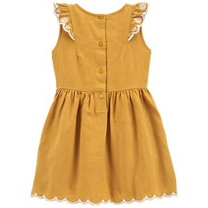 Toddler Girl Carter's Ruffled Sleeveless Dress