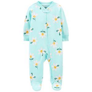 Baby Girl Carter's Daisy 2-Way Zip Sleep & Play