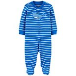 Baby Boy Carter's Whale Striped 2-Way Zip Sleep & Play