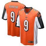 Men's Nike Joe Burrow Orange Cincinnati Bengals 2020 NFL Draft First Round Pick Game Jersey