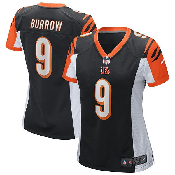 Women's Nike Joe Burrow Black Cincinnati Bengals 2020 NFL Draft First Round Pick Game Jersey