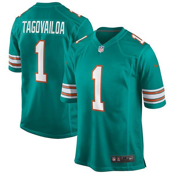 Men's Nike Tua Tagovailoa Aqua Miami Dolphins Alternate Game Jersey