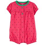 Baby Girl Carter's Strawberry Snap-Front Romper