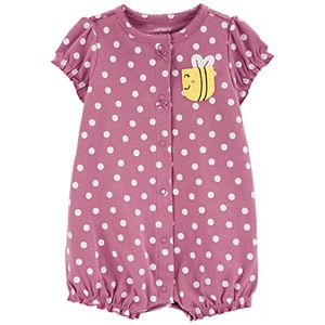 Baby Girl Carter's Polka Dot Snap-Up Romper