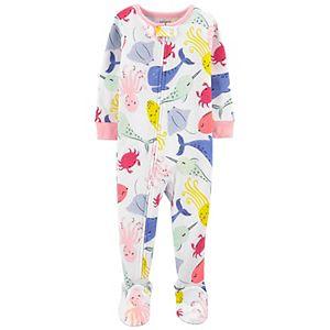Baby Girl Carter's Printed Footed Pajamas