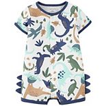 Baby Boy Carter's Dinosaur Snap-Front Romper