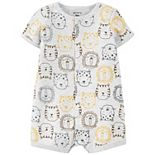 Baby Boy Carter's Lion Snap-Front Romper