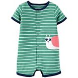 Baby Boy Carter's Snail Snap-Front Romper