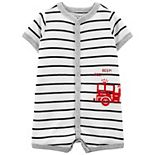 Baby Boy Carter's Striped Snap-Front Romper