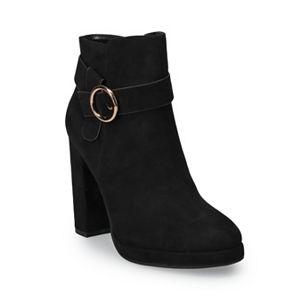 LC Lauren Conrad Avant Women's High Heel Ankle Boots