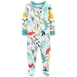 Toddler Boy Carter's Zip Footed Pajamas