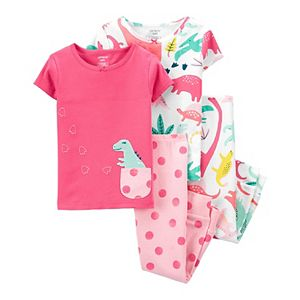 Toddler Girl Carter's 4 Piece Tops & Pants Pajama Set