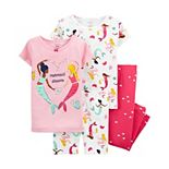 Toddler Girl Carter's 4 Piece Pajama Set