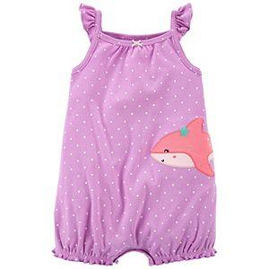 Baby Girl Carter's Shark Snap-Up Romper