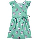 Girls 4-14 Carter's Unicorn Faux Wrap Dress