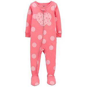Toddler Girl Carter's Zip Footed Pajamas