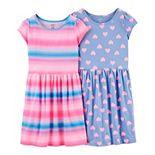 Girls 4-12 Carter's 2-Pack Jersey Dresses