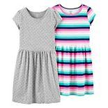 Girls 4-12 Carter's 2-Pack Jersey Dresses