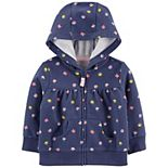 Baby Girl Carter's Floral Zip-Up French Terry Hoodie