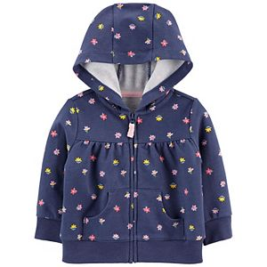 Baby Boy Carter's Floral Zip-Up French Terry Hoodie